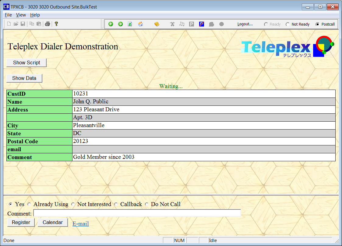 Teleplex CallBrowser screen shot